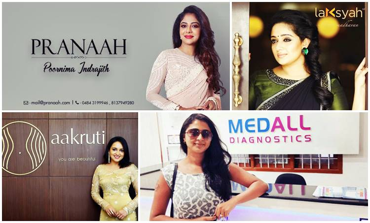 actress, business, kavya madhavan, poornima indrajith, lena, kaniha, jomol, reena basheer