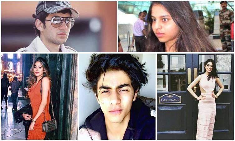 Sara Khan, Jhanvi Kapoor, Karan Deol, Ahan Shetty, Suhana Khan, Aryan Khan, Krishna Shroff, Navya Naveli Nanda