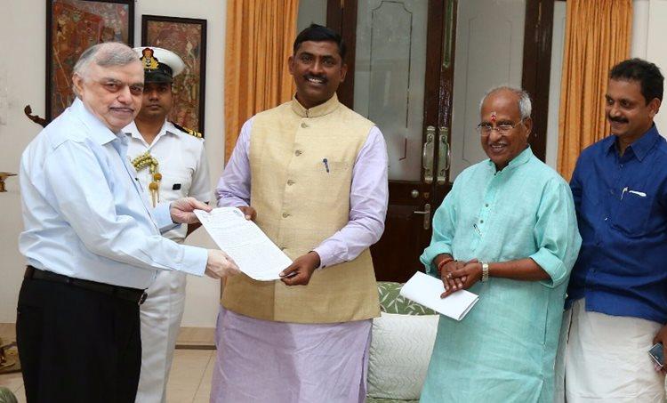 kerala governor, P Sadasivam, BJP, P muraleedhar Rao, O Rajagopal, K Surendran