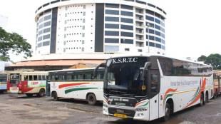 ksrtc bus, trivandrum, Ksrtc, EMployees, Ksrtc Strike, Ksrtc mechanical employees, Mechanical employees strike, Ksrtc Management