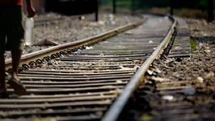 selfie, railway track, train