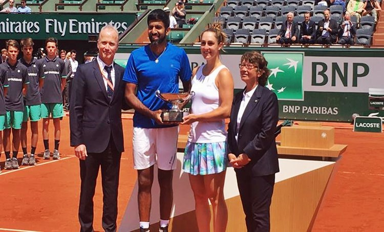 French open mixed doubles title, ഫ്രഞ്ച് ഓപ്പൺ മിക്സഡ് ഡബിൾസ് കിരീടം, Rohan Bopanna-Gabriela Dabrowski, രോഹൻ ബൊപ്പണ്ണ-ഗബ്രിയേല ദാബ്രോവസ്കി, ഗബ്രിയേല ദാബ്രോവസ്കി, രോഹൻ ബൊപ്പണ്ണ, Indo-Canadian pairing, ഇന്ത്യ-കാനഡഡ സഖ്യം, ഫ്രഞ്ച് ഓപ്പൺ