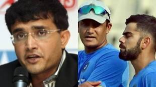 Virat Kohli, Anil Kumble, Sourav Ganguly