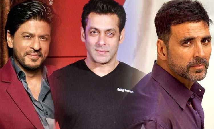 Shah Rukh Khan, Salman Khan, Akshay Kumar