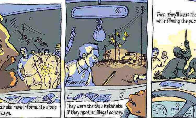 Beef Ban, Mob Lynching, Cartoon