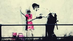 Frisking, Banksy