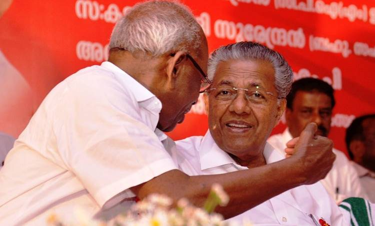 pinarayi vijayan and mm mani at kattappana