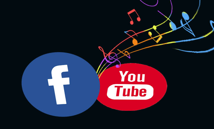 facebook , youtube, music