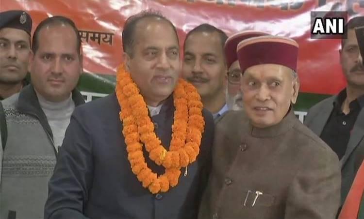jayaram thakur elected as himachal chief minister,