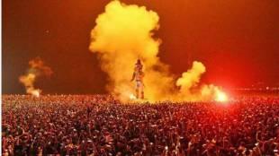 year end celebration in fort kochi pappanji set on fire
