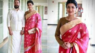 Shruti Haasan, Michael Corsale and Kamal Haasan attend Aadhav Kannadasan's wedding
