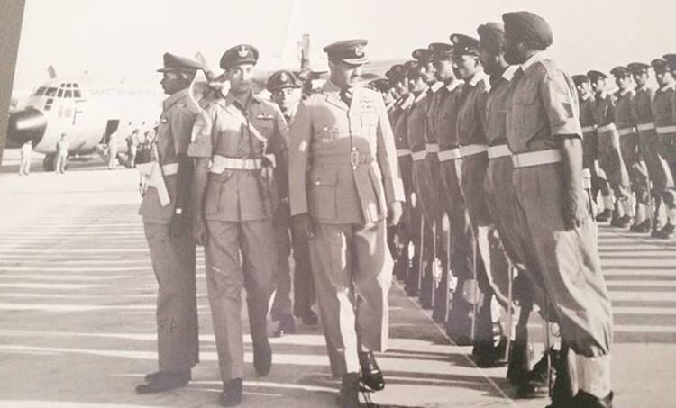 Asghar Khan inspecting a guard of honour during his India visit.