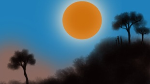 blood moon,super moon,