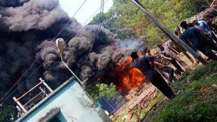 fire , ksrtc,depot