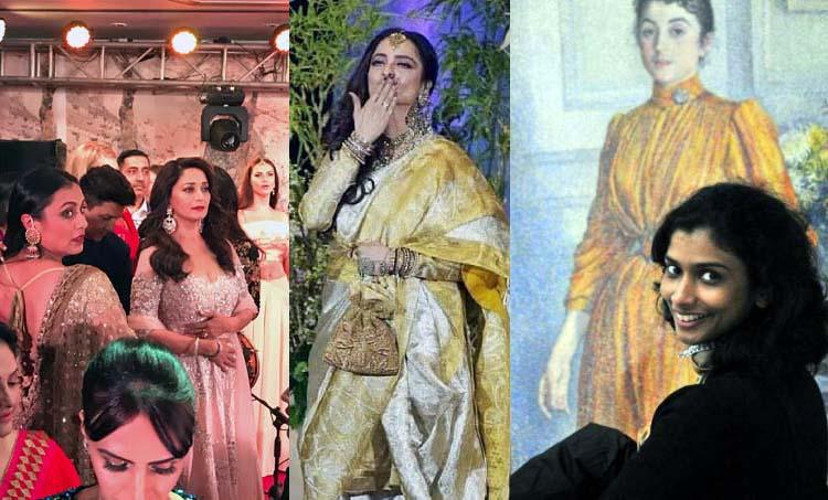 Rekha makes heads turn at Sonam Kapoor's wedding with her chaugoshiya