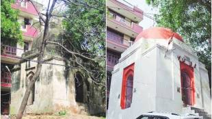 Tomb to temple, Tomb turns temple, South Delhi monument, Shiv Bhola temple, Safdarjung Enclave, Manish Sisodia, Humayunpur village, INTACH, latest Delhi news, indian express