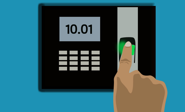 finger punching attendance machine