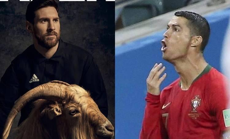 Christian Ronaldo Chin Celebration, CR7 Chin Celebration, Ronaldo Chin Celebration, CR7 goat celebration, Lional Messi Goat, Goat Messi, Christiano