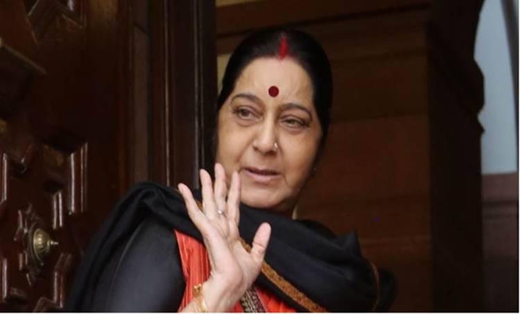 Aircraft carrying Sushma Swaraj goes incommunicado for 14 minutes