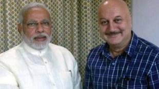 Anupam Kher with Narendra Modi