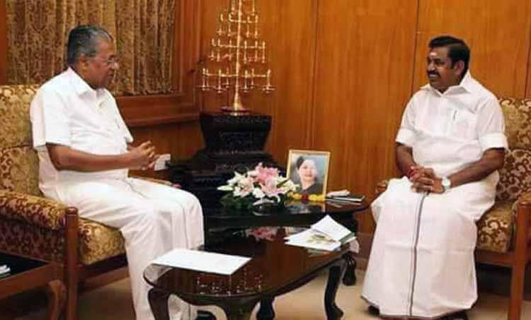 Kerala Rains Chief Minister Pinarayi vijayan writes to Tamilnadu Chief Minister Edappadi K Palaniswami on Mullaperiyar