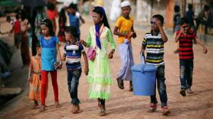 Rohingya refugees fled the country, file