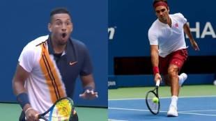 Federer, Roger Federer, Nick Kyrgios, Tennis, US Open, Federer Flick