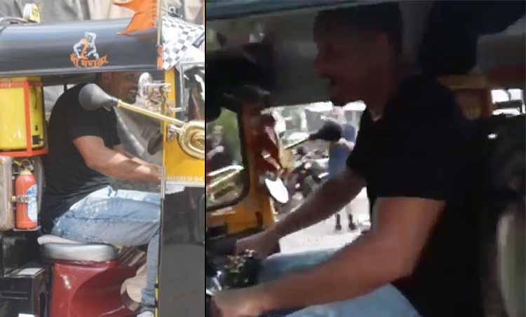 Will Smith riding Auto Rickshaw on the streets of Mumbai