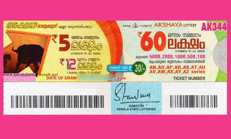 Kerala Akshaya Lottery, Kerala Akshaya Lottery result, kerala lottery, ie malayalam