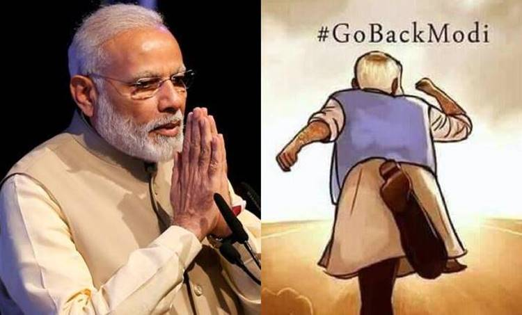 Narendra Mod, Go Back Modi