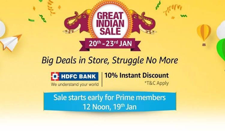 Amazon, Amazon Great Indian Sale, Amazon Great Indian Sale dates, Amazon Great Indian Sale offers, Amazon Great Indian Sale discounts,ആമസോൺ ഗ്രെയിറ്റ് ഇന്ത്യൻ സെയിൽ, Amazon Great Indian Sale smartphone deals , ആമസോൺ,ഐഇ മലയാളം