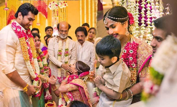 soundarya rajnikanth wedding photos, soundarya rajnikanth wedding reception photos, സൗന്ദര്യ രജനികാന്ത്, സൗന്ദര്യ രജനികാന്ത് വിവാഹം, soundarya rajnikanth, soundarya rajnikanth wedding, soundarya rajnikanth husband, Vishagan Vanangamudi , പുതിയ ചിത്രം, സിനിമ, Entertainment, സിനിമാ വാര്ത്ത, ഫിലിം ന്യൂസ്, Film News, കേരള ന്യൂസ്, കേരള വാര്ത്ത, Kerala News, മലയാളം ന്യൂസ്, മലയാളം വാര്ത്ത, Malayalam News, Breaking News, പ്രധാന വാര്ത്തകള്, ഐ ഇ മലയാളം, iemalayalam, indian express malayalam, ഇന്ത്യന് എക്സ്പ്രസ്സ് മലയാളം