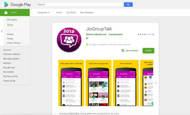 Reliance Jio, Jio, Reliance Jio app, Jio Group Talk, Jio Group Talk Android, Jio Group Talk conference call, Jio Group Talk app, Jio Group Talk Play Store,Technology, ടെക്നോളജി, Tech news, ടെക് ന്യൂസ്, Malayalam Tech News, മലയാളം ടെക് ന്യൂസ്, IE malayalam, ഐഇ മലയാളം, Indian Express, ഇന്ത്യൻ എക്സപ്രസ്, today news, ഇന്നത്തെ വാർത്ത news india, latest news, breaking news, ബ്രേക്കിങ്ങ് ന്യൂസ്, india news live, india news today