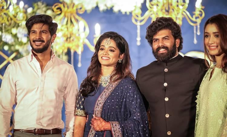 Sunny Wayne, Sunny Wayne Wedding reception, Sunny Wayne wedding reception photos, Dulquer Salmaan, , Sunny Wayne wedding reception videos, സണ്ണി വെയ്ൻ വിവാഹിതനായി, സണ്ണി വെയ്ൻ കല്യാണ ഫോട്ടോ, Indian Express Malayalam, ദുൽഖർ സൽമാൻ