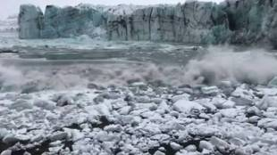 climate change, ഗ്ലേഷ്യർ, Glacier Collapse, tourists run Glacier Collapses, ഐസ്ലൻഡ്, Iceland, Iceland Glacier viral video, Iceland tourist spots, viral video, trending, ie malayalam, ഐഇ മലയാളം