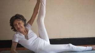 Yoga instructor, 100 year old yoga instructor