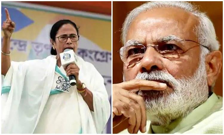 Narendra Modi and Mamata Banerjiee