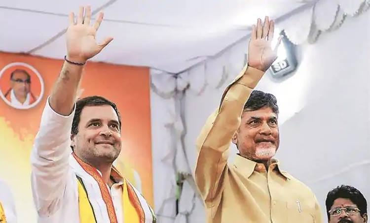 Rahul Gandhi and ChandraBabu Naidu