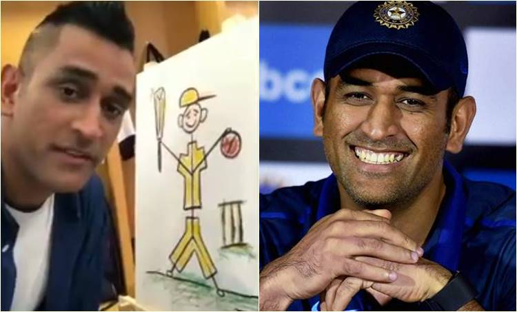 MS Dhoni, MS Dhoni retirement, MS Dhoni painting, MS Dhoni painting video, MS Dhoni video, MS Dhoni retirement plans, cricket news