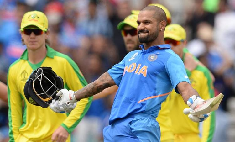 Shikhar Dhawan, Shikhar Dhawan records, Most centuries in World Cup by team, Most centuries in World Cup, Fastest to 1000 ODI runs in England, Most centuries in England, Shikhar Dhawan 117 vs Australia, India vs Australia, Australia vs India, IND vs AUS, AUS vs IND, ICC World Cup 2019