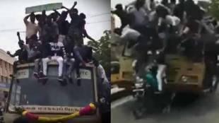 Chennai, ചെന്നൈ, Viral Video, വൈറല് വീഡിയോ, BUS Accident, അപകടം, social media, students, വിദ്യാര്ത്ഥികള്