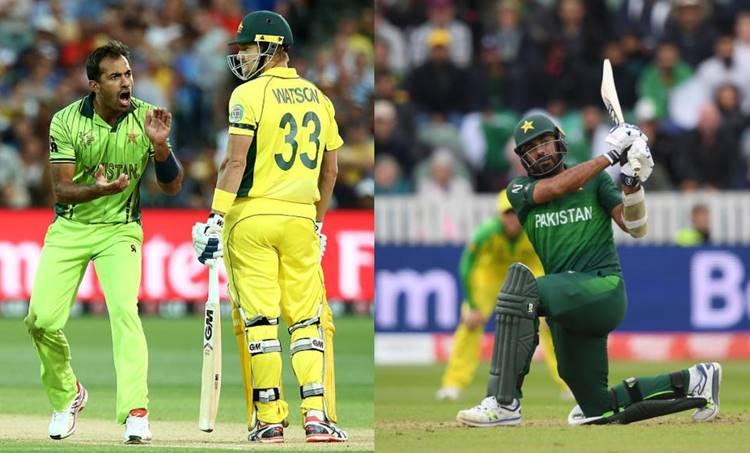 Wahab RIaz, വഹാബ് റിയാസ്, Wahab Riaz vs Australia, Muhammed Aamir, Aamir, Muhammad Aamir, David Waner, Warner, Cricket World Cup, ക്രിക്കറ്റ് ലോകകപ്പ് 2019, Pakistan, പാക്കിസ്ഥാന്, Australia, ഓസ്ട്രേലിയ, Rain, മഴ