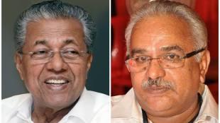 Pinarayi Vijayan and Kanam Rajendran CPI CPM