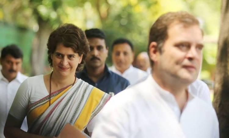 Priyanka Gandhi and Rahul Gandhi Congress President