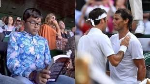 Wimbledon, Federer vs Nadal, Roger Federer, Rafael Nadal, Kid Reading Book, ie malayalam