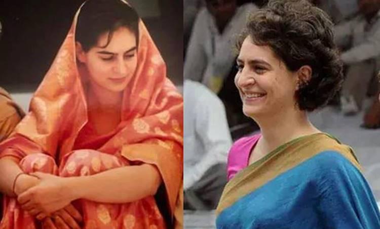 Priyanka Gandhi, പ്രിയങ്ക ഗാന്ധി, Twitter, ട്വിറ്റര്, trend, ട്രെന്ഡ്, hashtag, ഹാഷ്ടാഗ്, saree, സാരി
