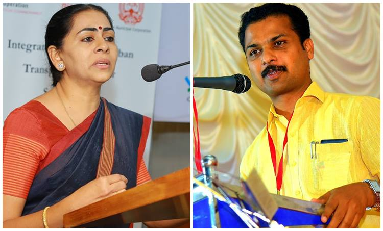 VK Prasanth and Soumini Jain Relief Activities Kerala Flood