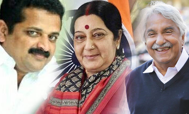 Sushma Swaraj, സുഷമ സ്വരാജ്, Oommen Chandy, ഉമ്മൻചാണ്ടി, Anto Joseph, ആന്റോ ജോസഫ്, Take off movie, ടേക്ക് ഓഫ്, Indian express Malayalam, ഇന്ത്യൻ എക്സ്പ്രസ് മലയാളം