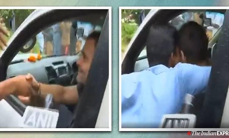 Rahul Gandhi,രാഹുല് ഗാന്ധി, man kisses congress mp rahul gandhi wayanad kerala , രാഹുലിനെ ഉമ്മ വച്ച് വയനാട്ടുകാരന്,viral video, man kisses rahul gandhi viral video, trending, indian express, indian express news