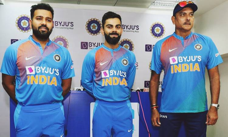 Byju's App, ബെെജൂസ് ആപ്പ്,Indian Cricket Team New Jersey,ഇന്ത്യന് ക്രിക്കറ്റ് ടീം പുതിയ ജഴ്സിി, Byjus India, Byjus Team India, Virat Kohli, Rohit Sharma, ie malayalam,